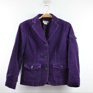 Michael Kors Women Size 6 Purple Corduroy Blazer